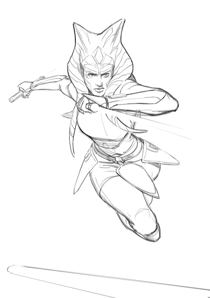 Darren tan ahsoka sketch