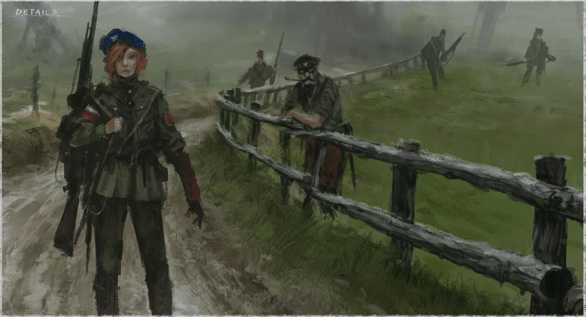 Jakub rozalski resistance process 07