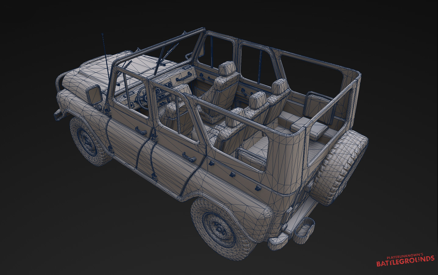 3d Model Playerunknown S Battlegrounds Buggy By Kmiklas: Andrey Andreev