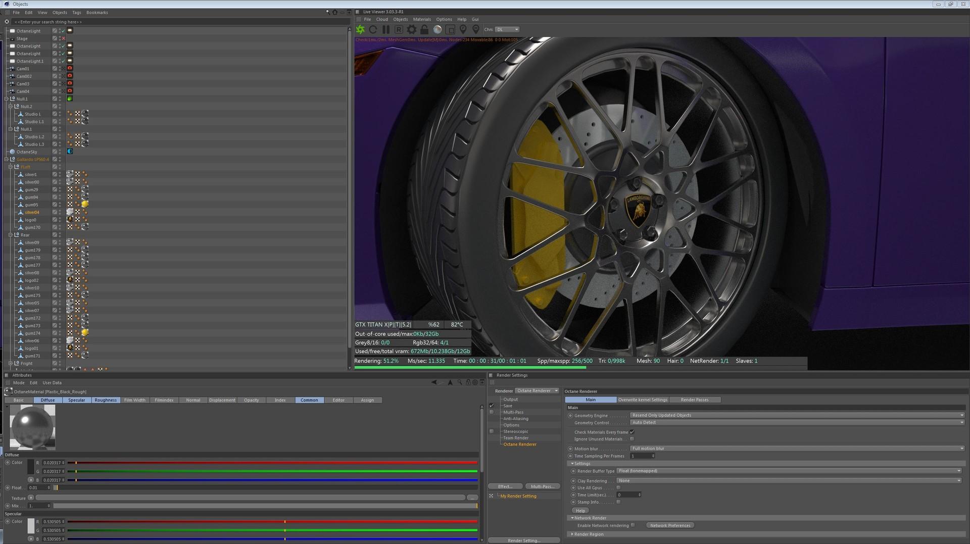 ArtStation - Lamborghini Gallardo, C4D/Octane, Shane Cappelle