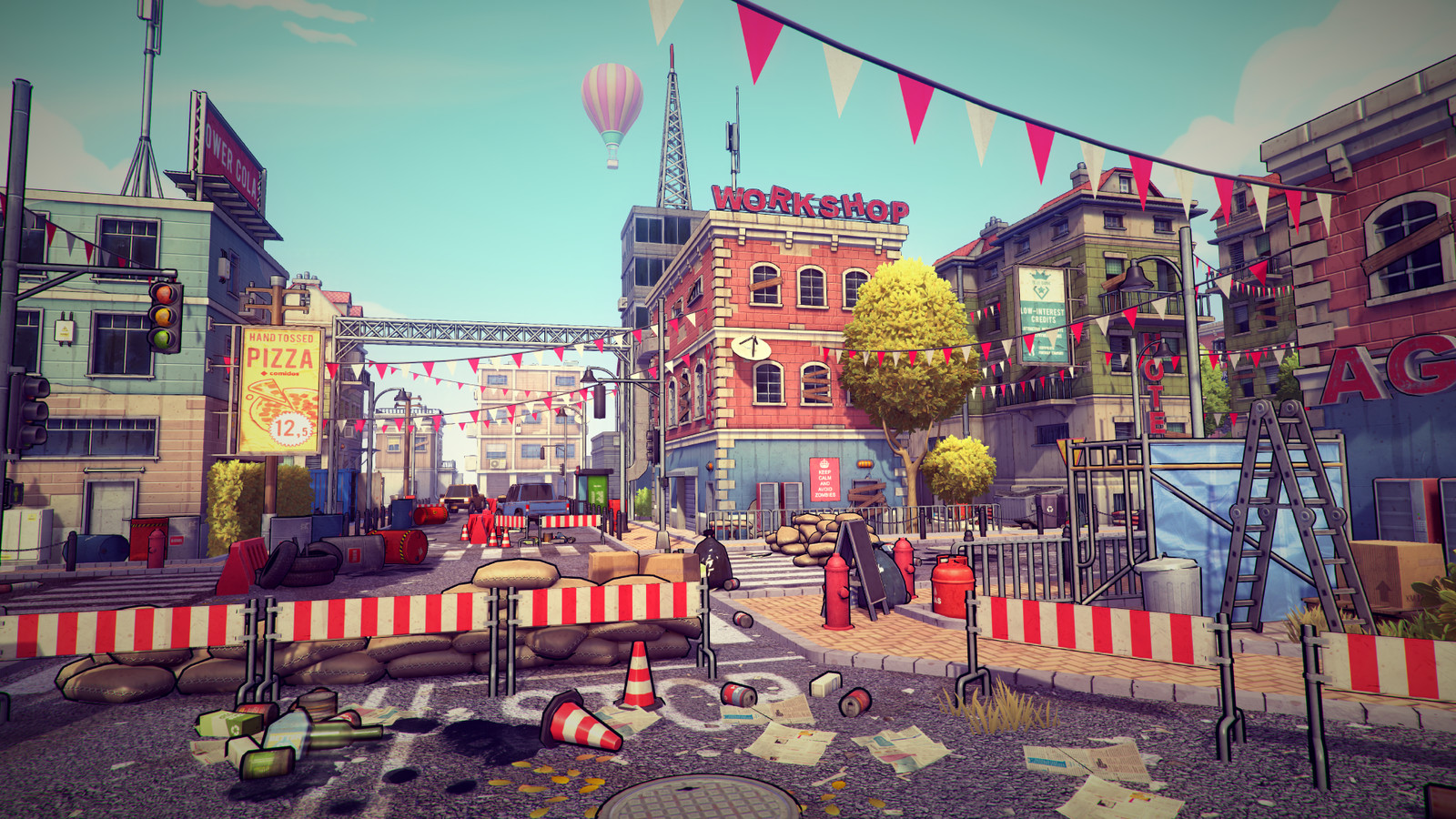 Post-Apo Cartoon City Pack - Unity 3d Game Asset Pack