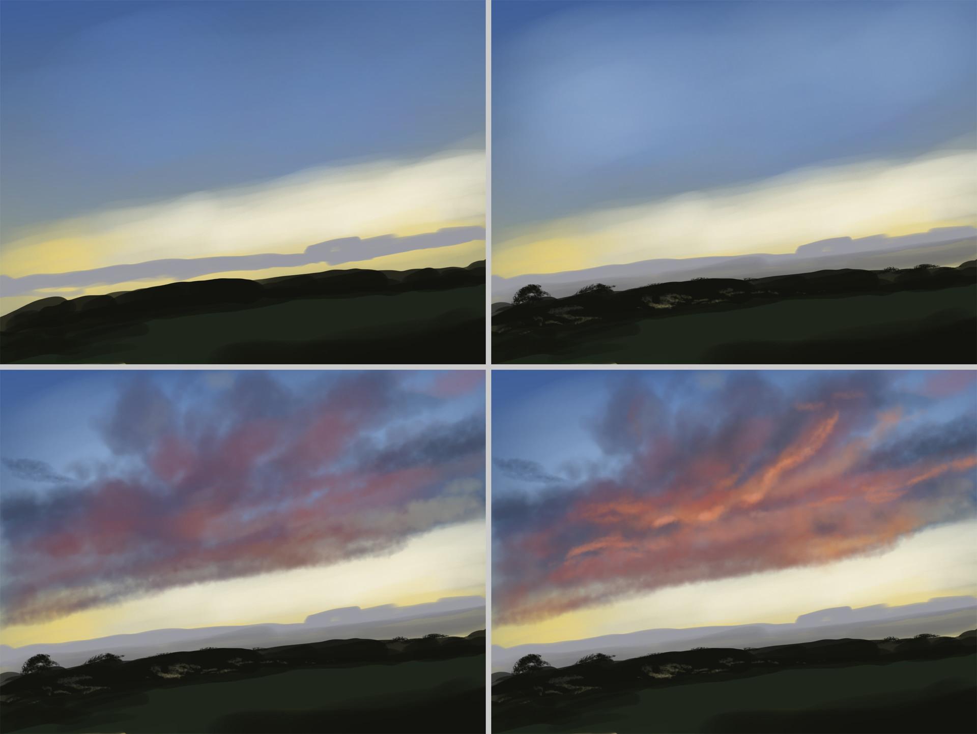Artstation sunset sketch nico de digital painting tutorial steps nico de digital painting tutorial baditri Images