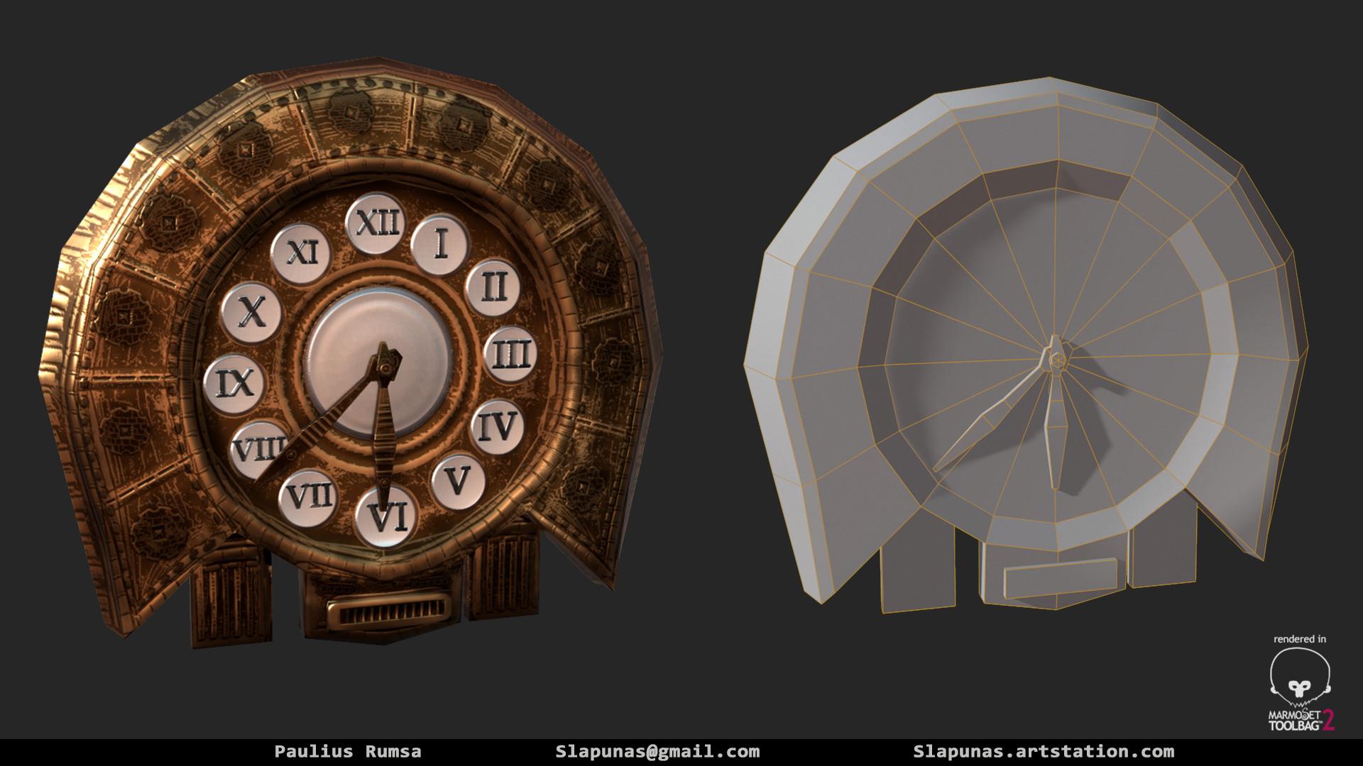 Paulius rumsa wall clock prop