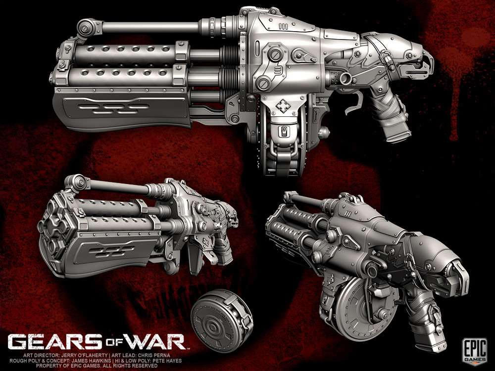 Artstation Gears Of War Weapons Pete Hayes