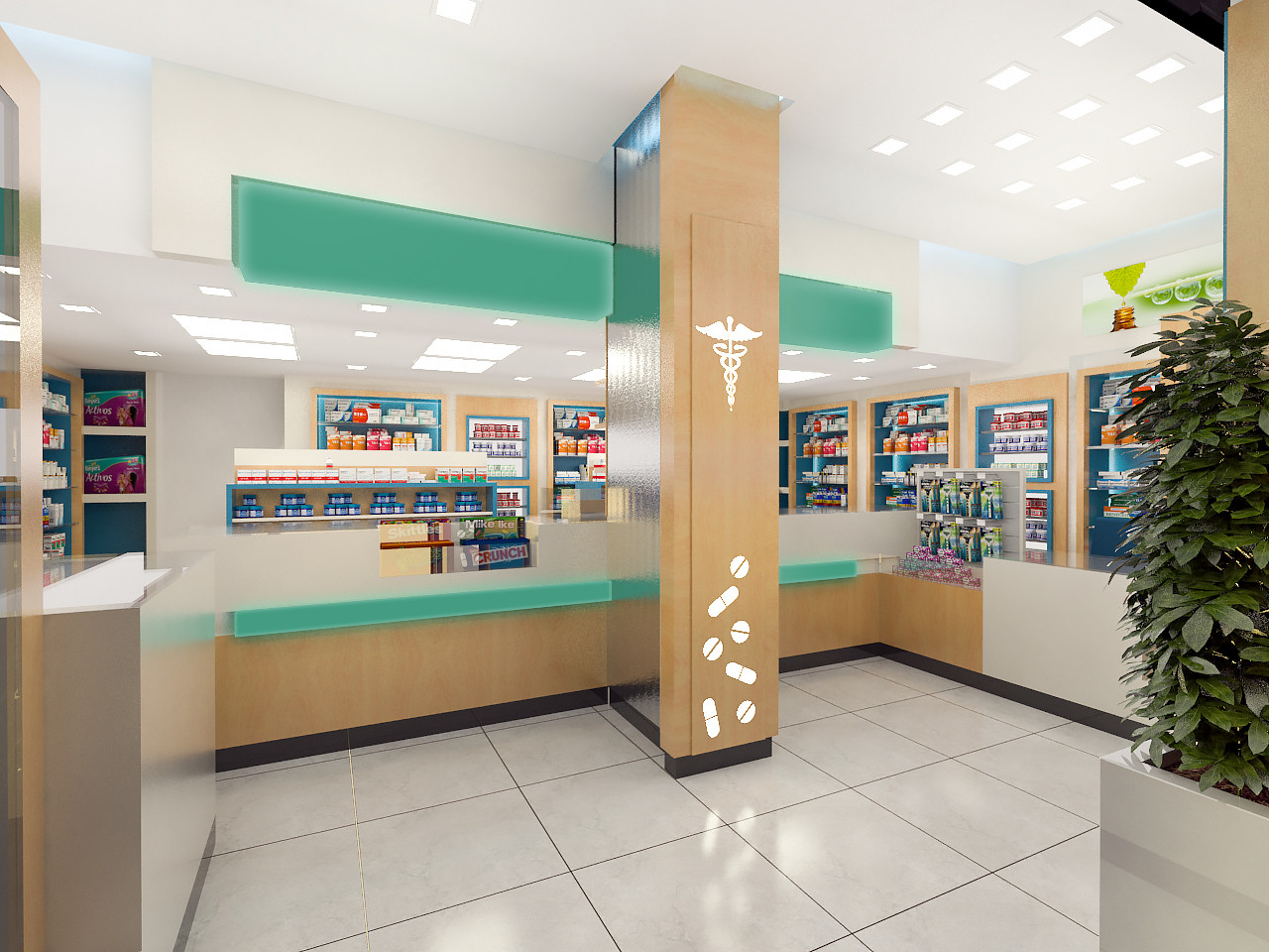 ArtStation - Pharmacy interior Design, Yasin Alastal