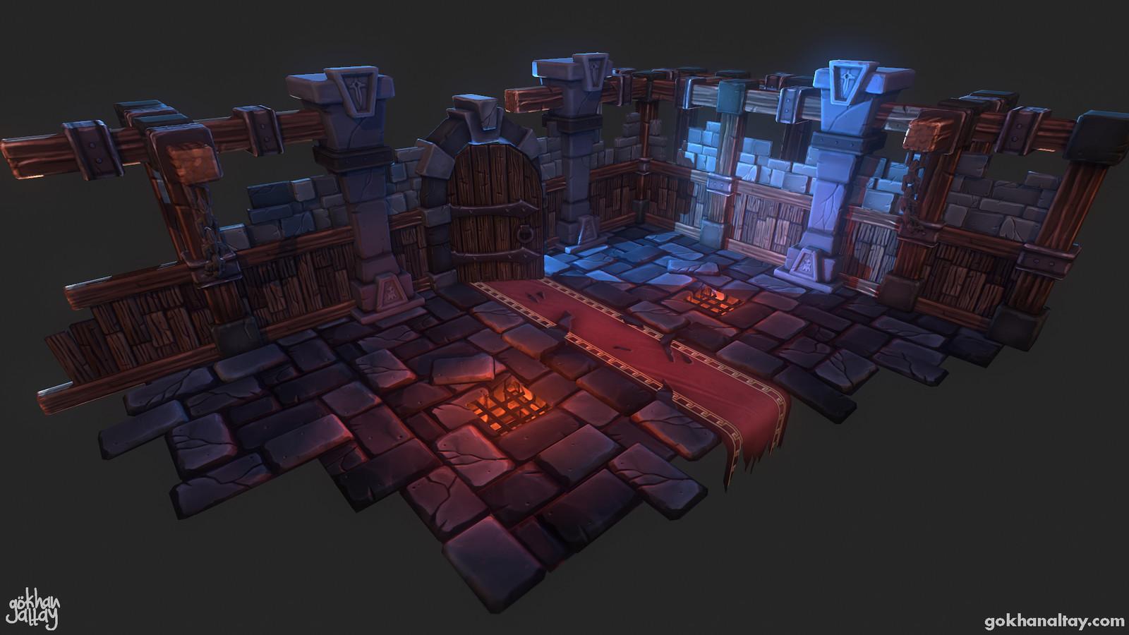 Stylized Dungeon Scene