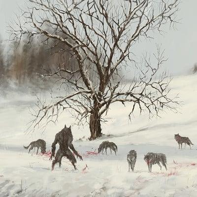 Jakub rozalski wolfpack winter01