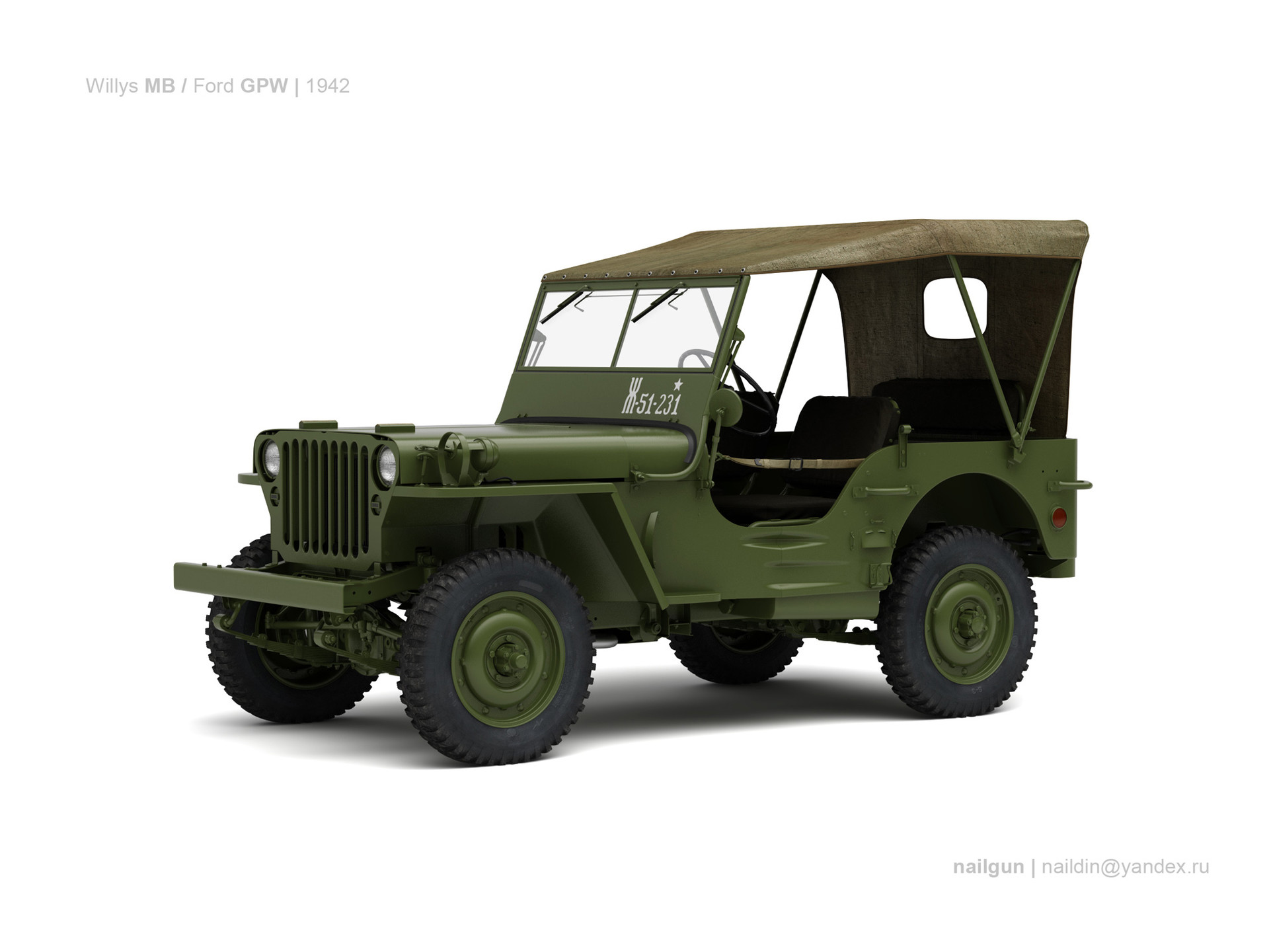 Nail khusnutdinov usa willys mb ford gpw 0