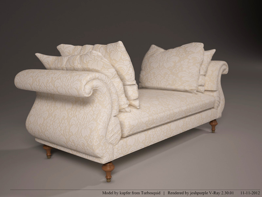 Josh purple daybed furniture rendering