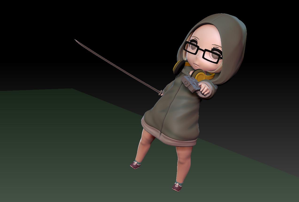 Masatomo suzuki hoodedgirl 03 zbrush