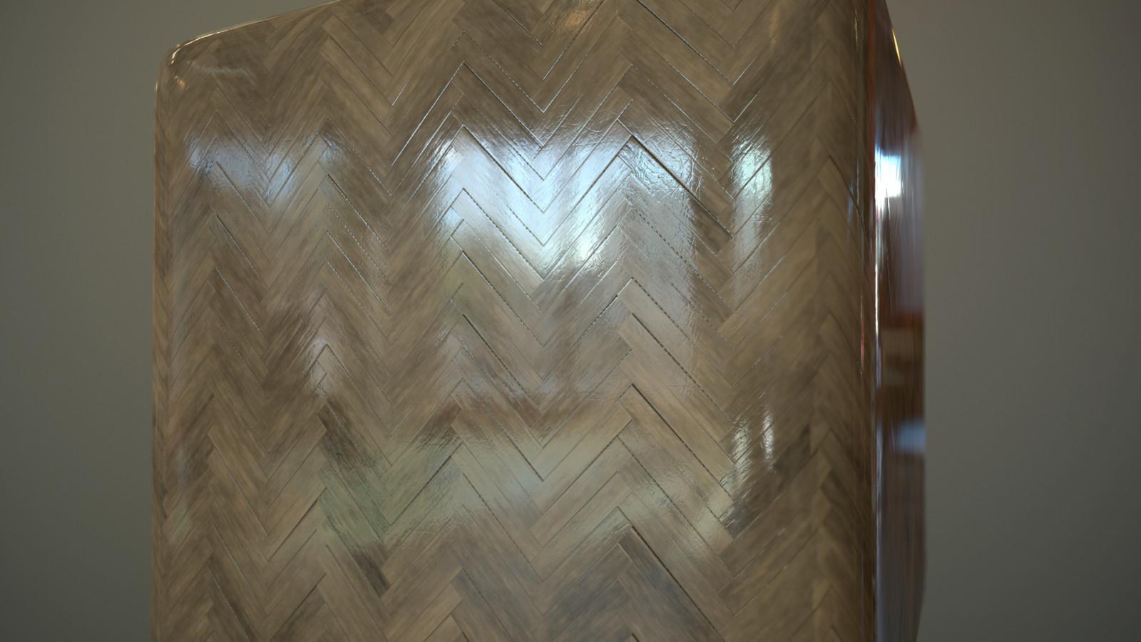 Tileable Parquet Material Design