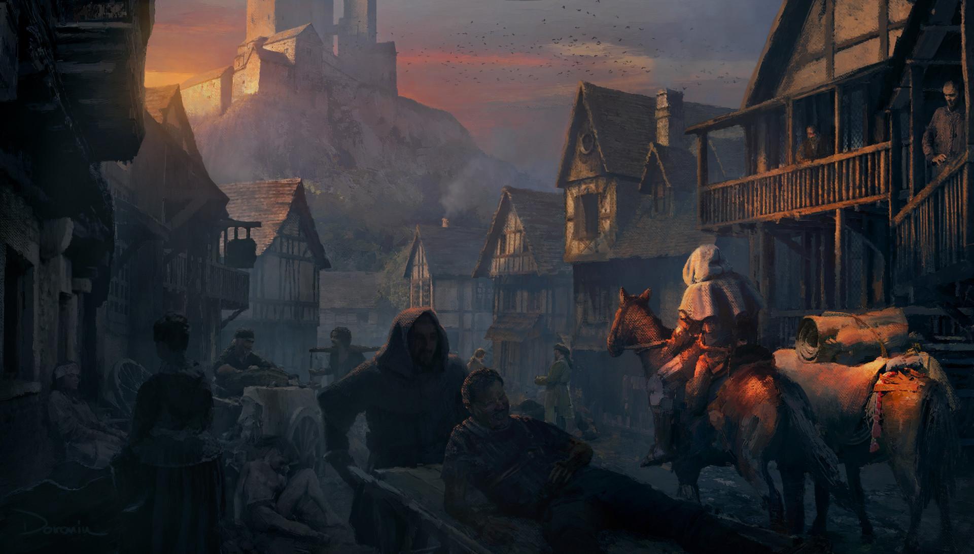 Artstation Medieval Town In Trouble Kenneth Doronin
