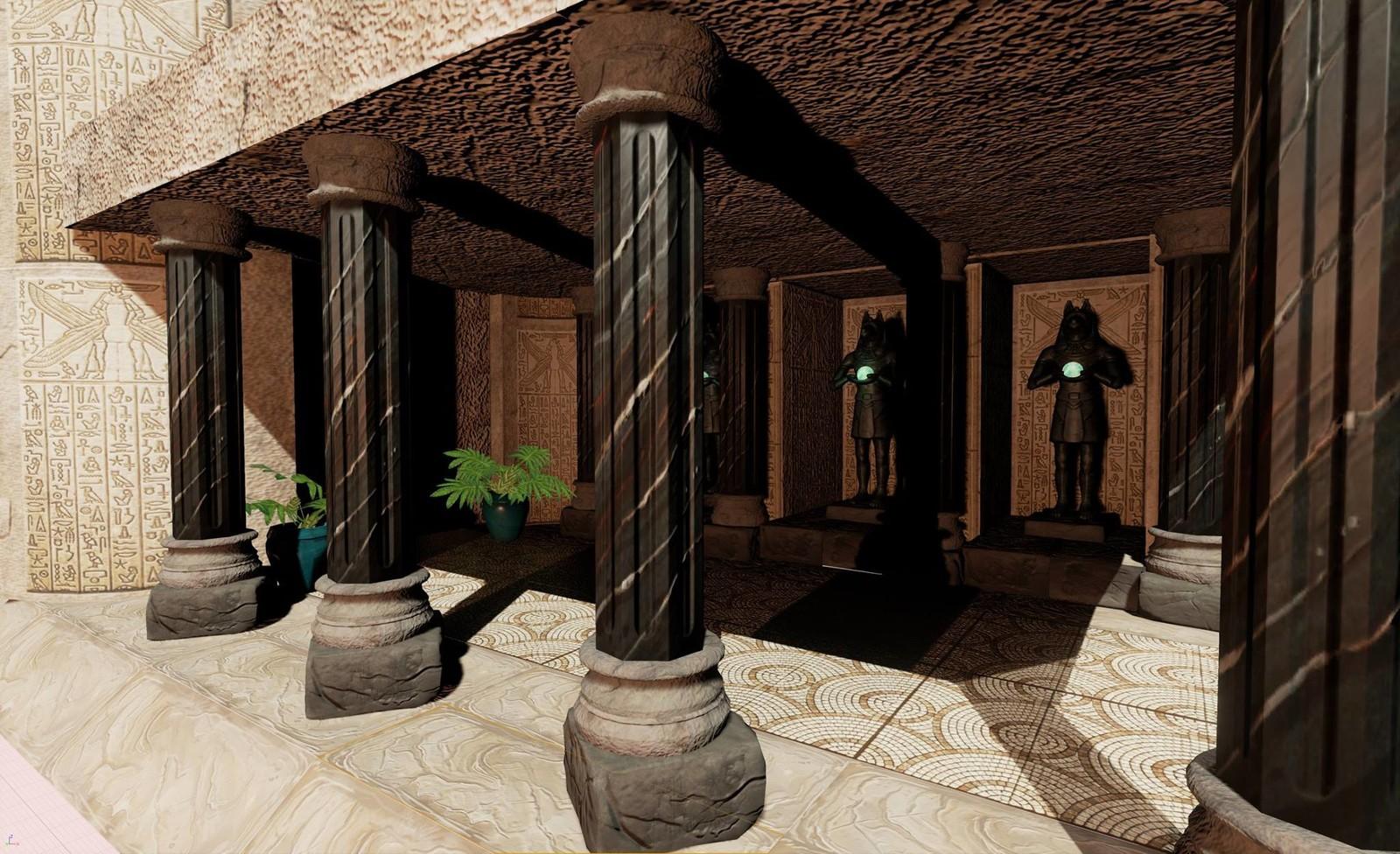 Anubis Temple Hallway- Modular Hallway