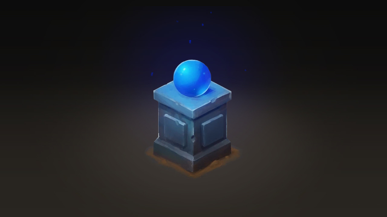 Isometric Pilar with Blue Orb