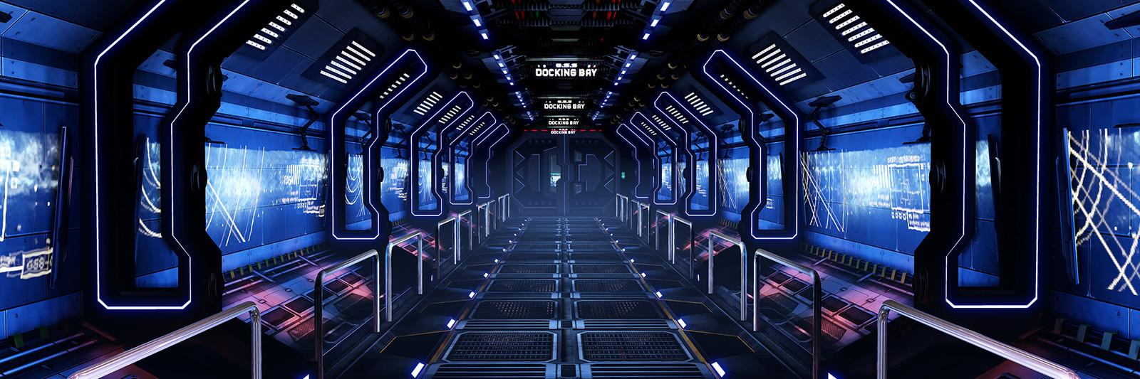 Genesis Space Station Corridor