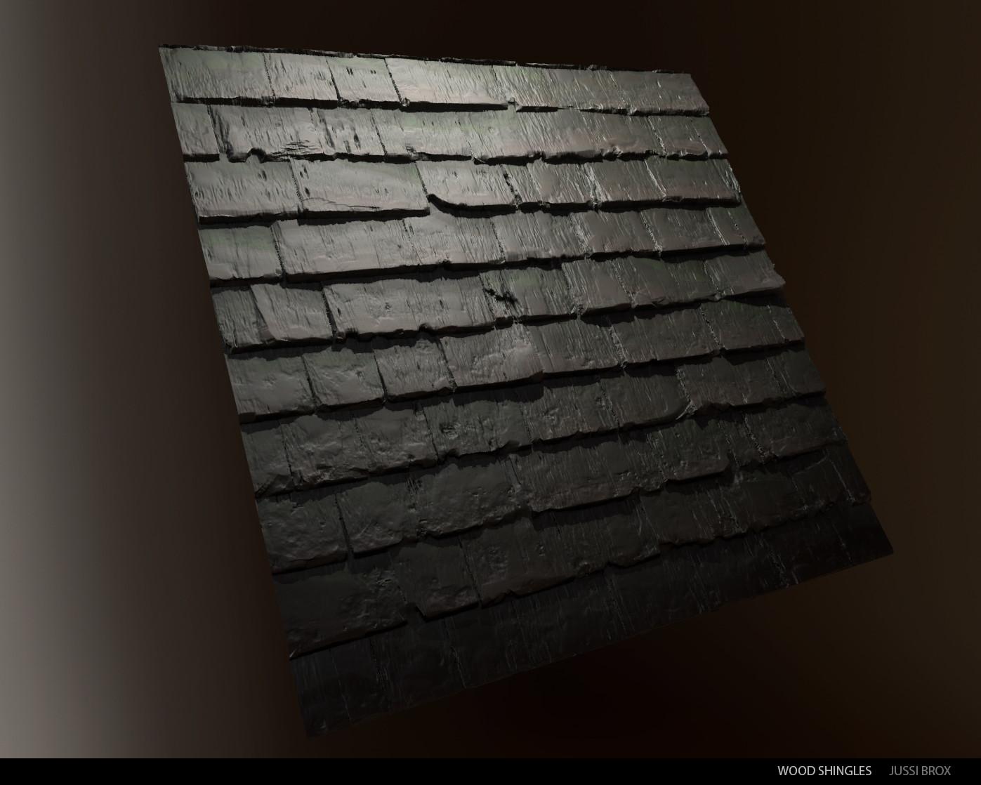 Wood study - Roof shingles