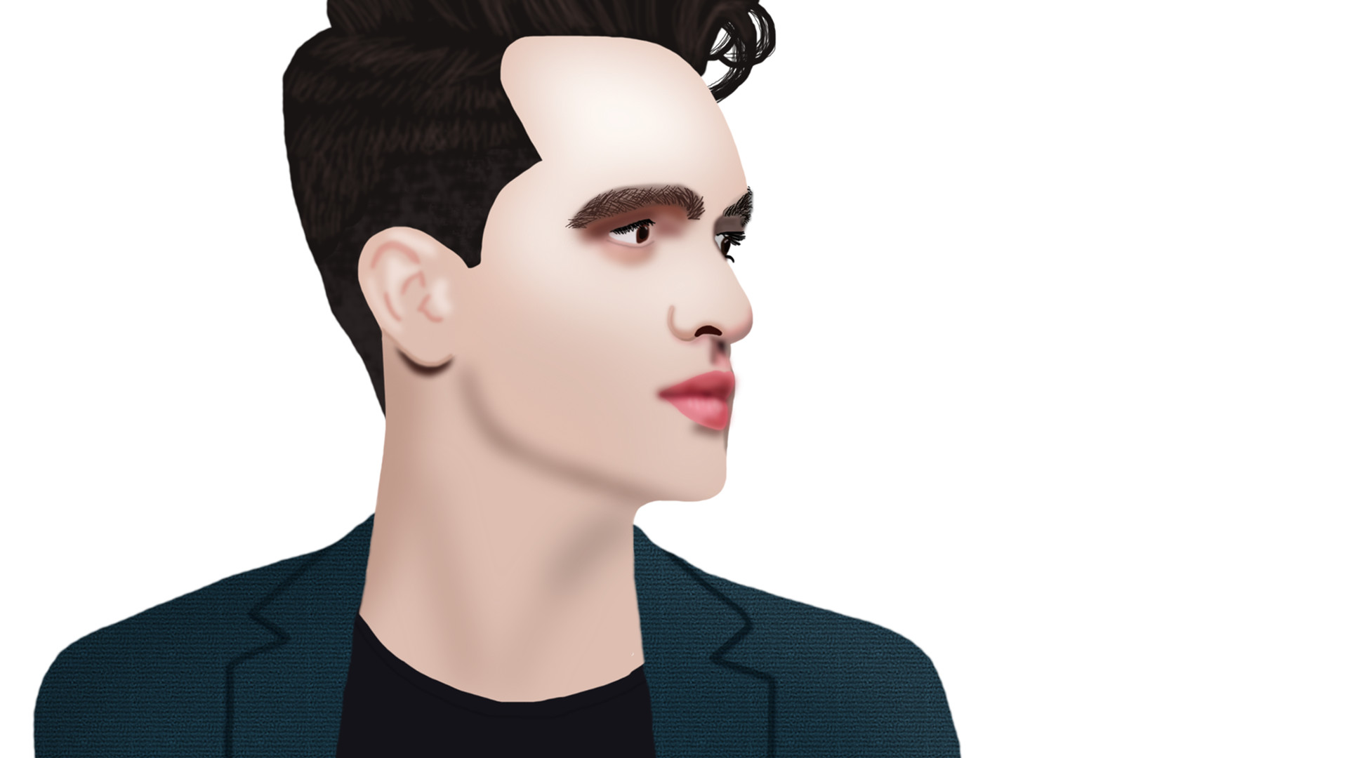 abby t brendon urie semi realistic drawing