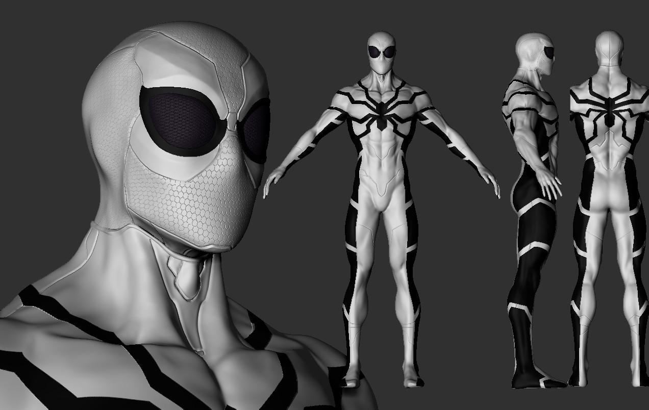 Spiderman - future foundation costume - & ArtStation - Spiderman Future foundation costume Stivens trujillo ...