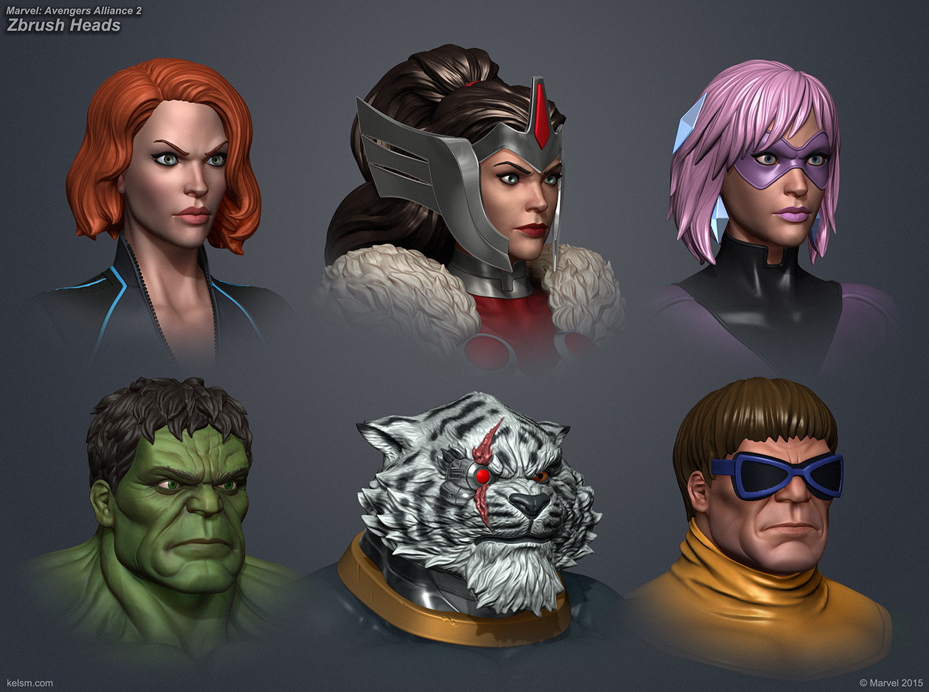 Marvel Avengers Alliance 2 Heads