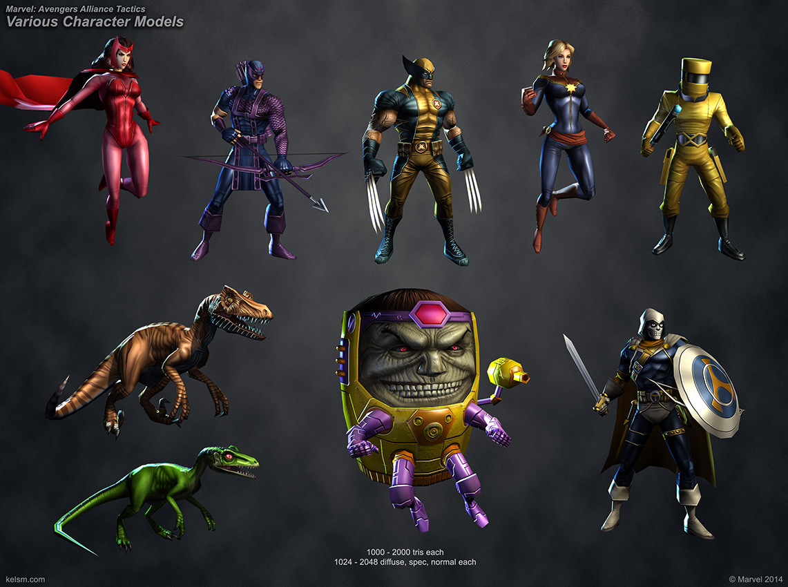 Marvel Avengers Alliance Tactics Various Characters
