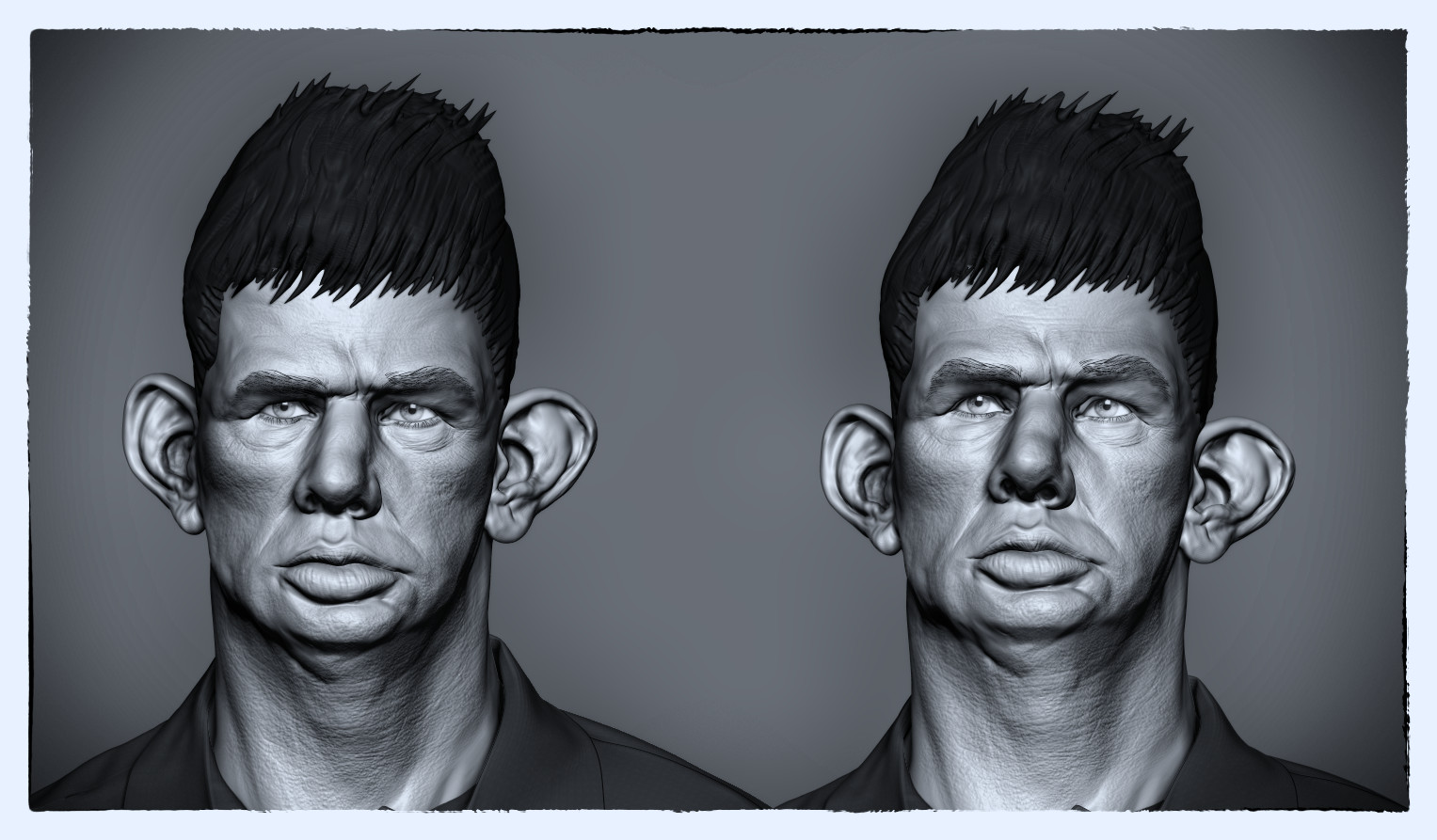 WIP 3D Sculpt of Dresie et Casie, Twins, by Roger Ballen