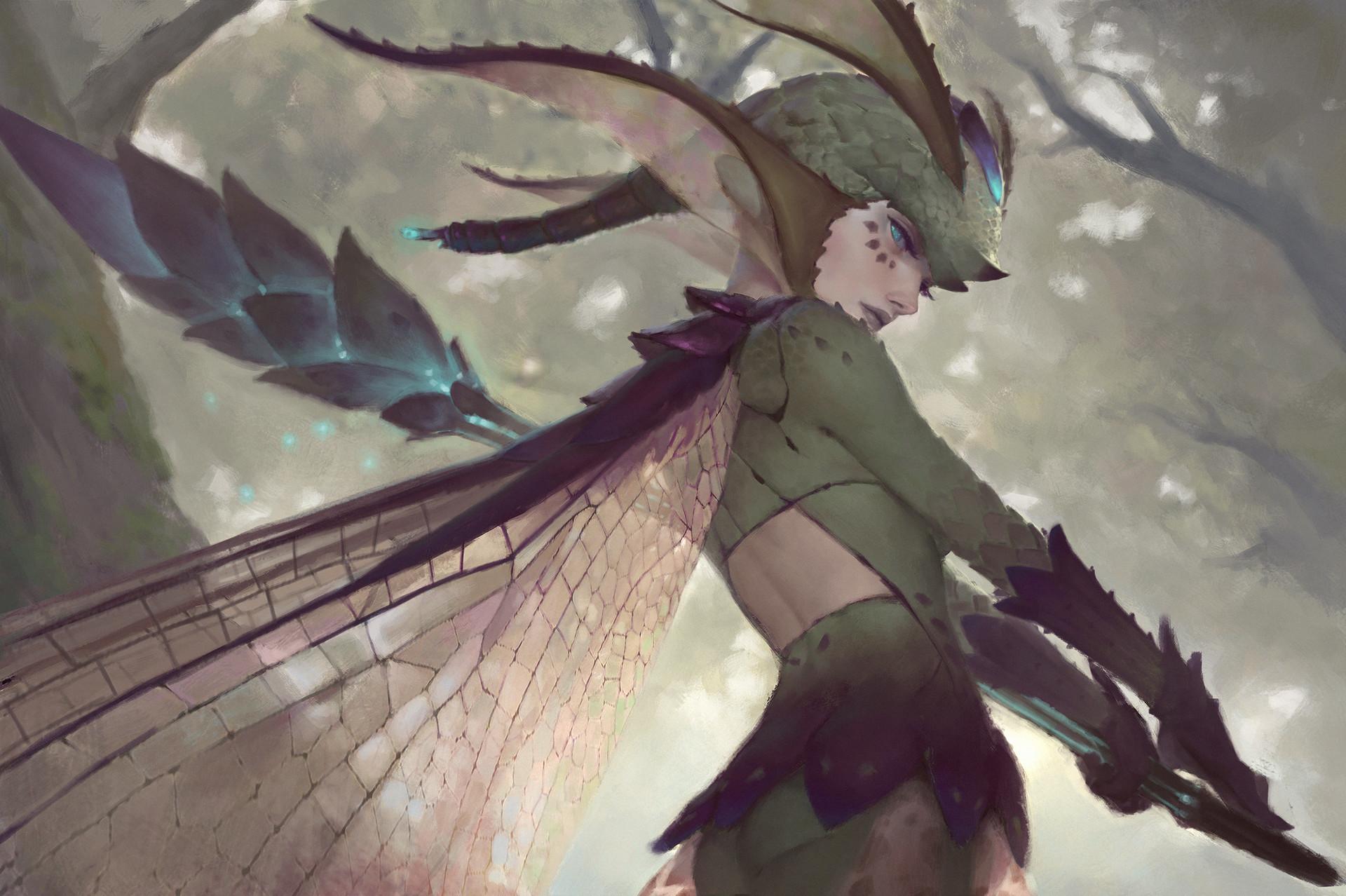 ArtStation - Dragonfly, Nick Gan