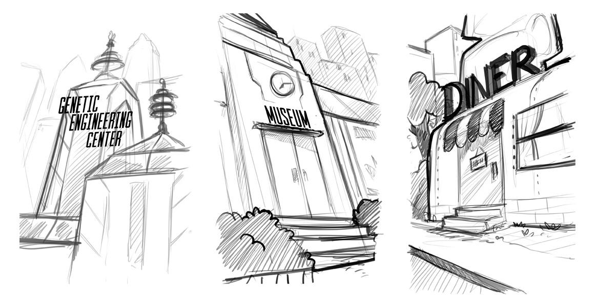 Marie bonhoure view sketches