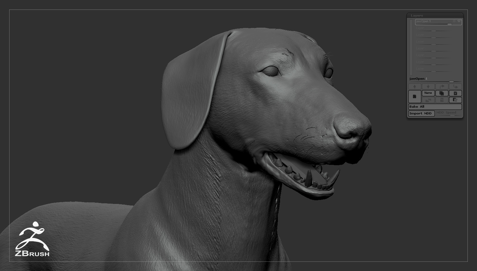 Alex lashko dachshund by alexlashko zbrush 07