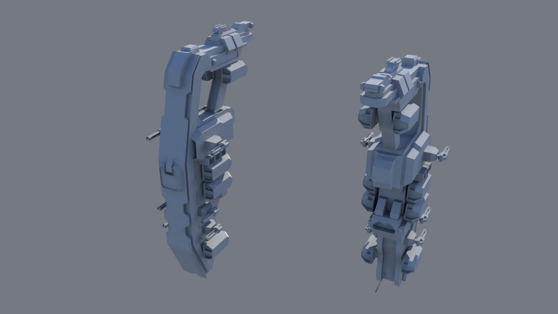 Optimized model. Sitting around 2.5k poly.