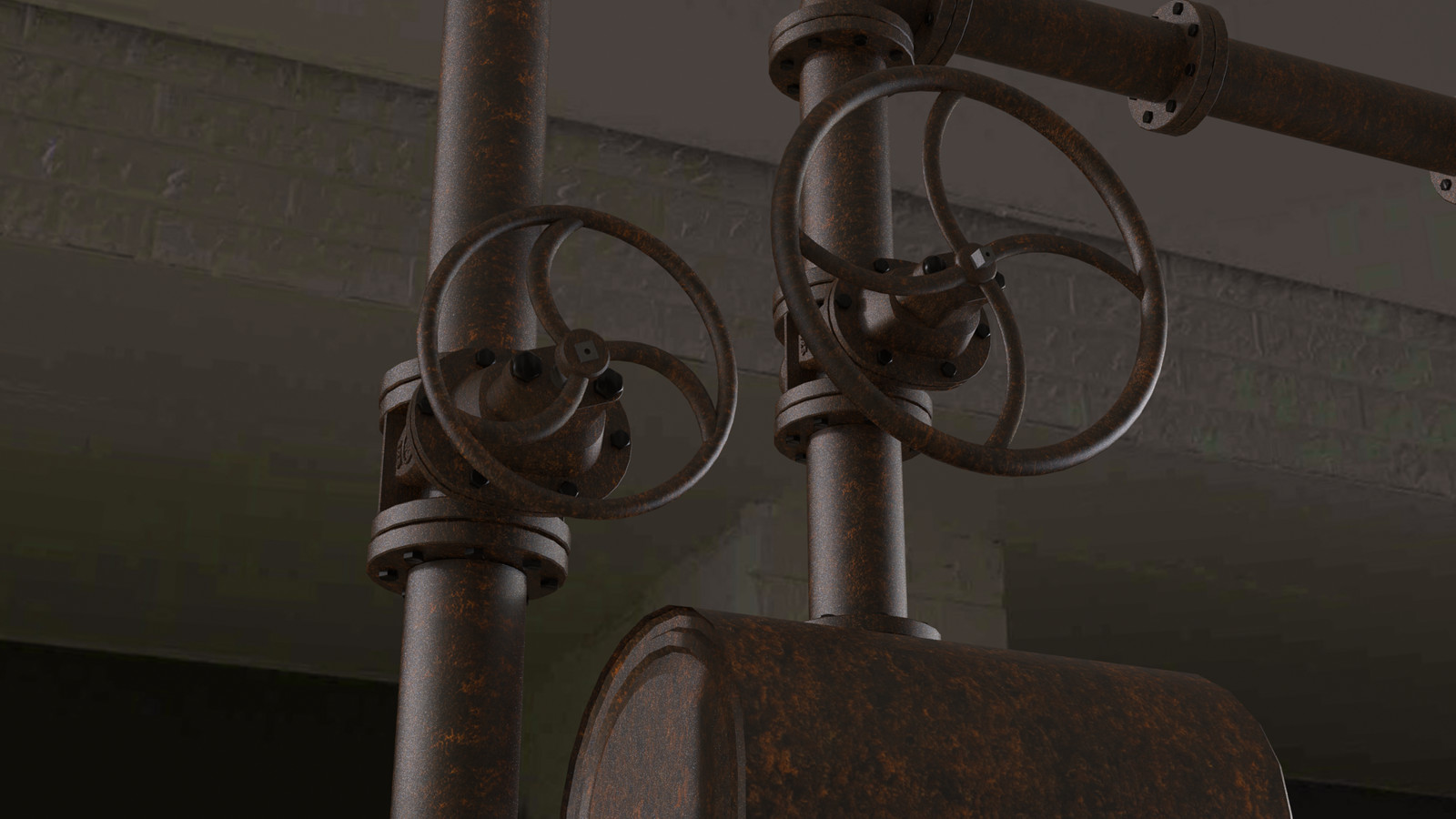 Hydrochloric Acid wash/Rusted Cast Iron Ventilation and Plumbing.
