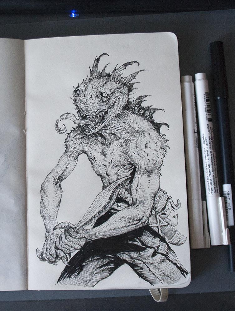 Miroslav petrov swampwarrior ink small