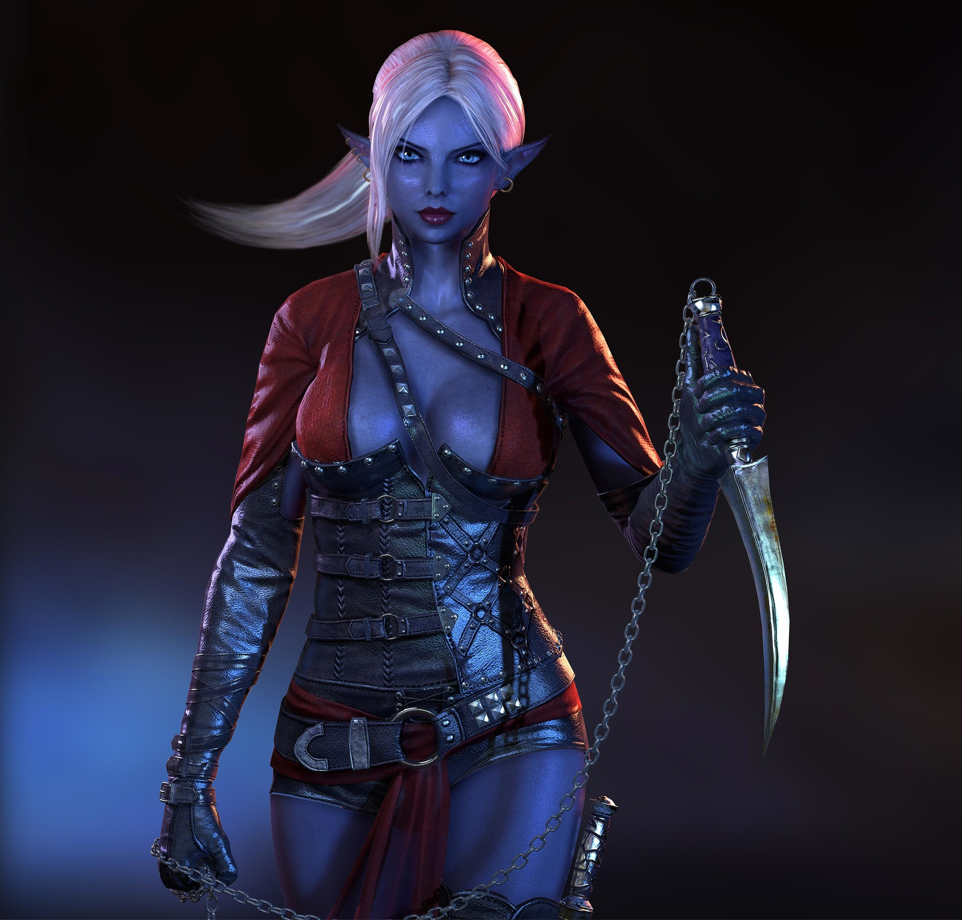 Sovia dark elf 3d sex clip