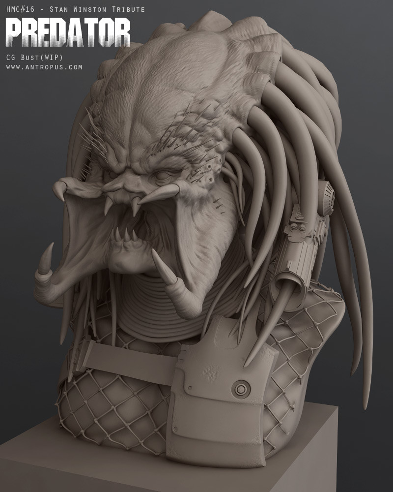 Predator bust, for the Stan Winston Challenge