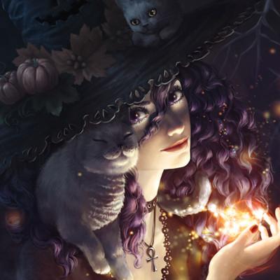 Malwina kwiatkowska halloween witch by merkerinn dam1zkb 1