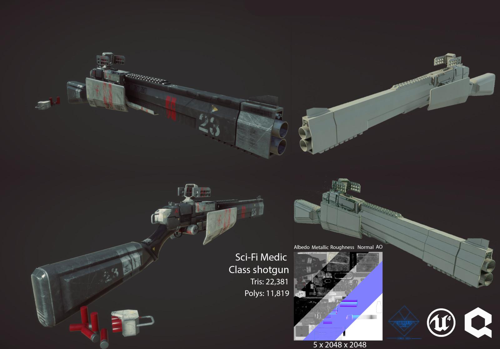Sci-Fi Medic Shotgun