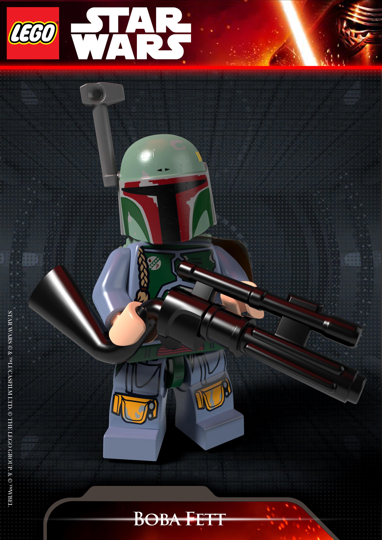 Artstation Boba Fett Blaster Rifle Lego Star Wars The Force