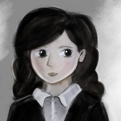 Alex dawson school girl portrait