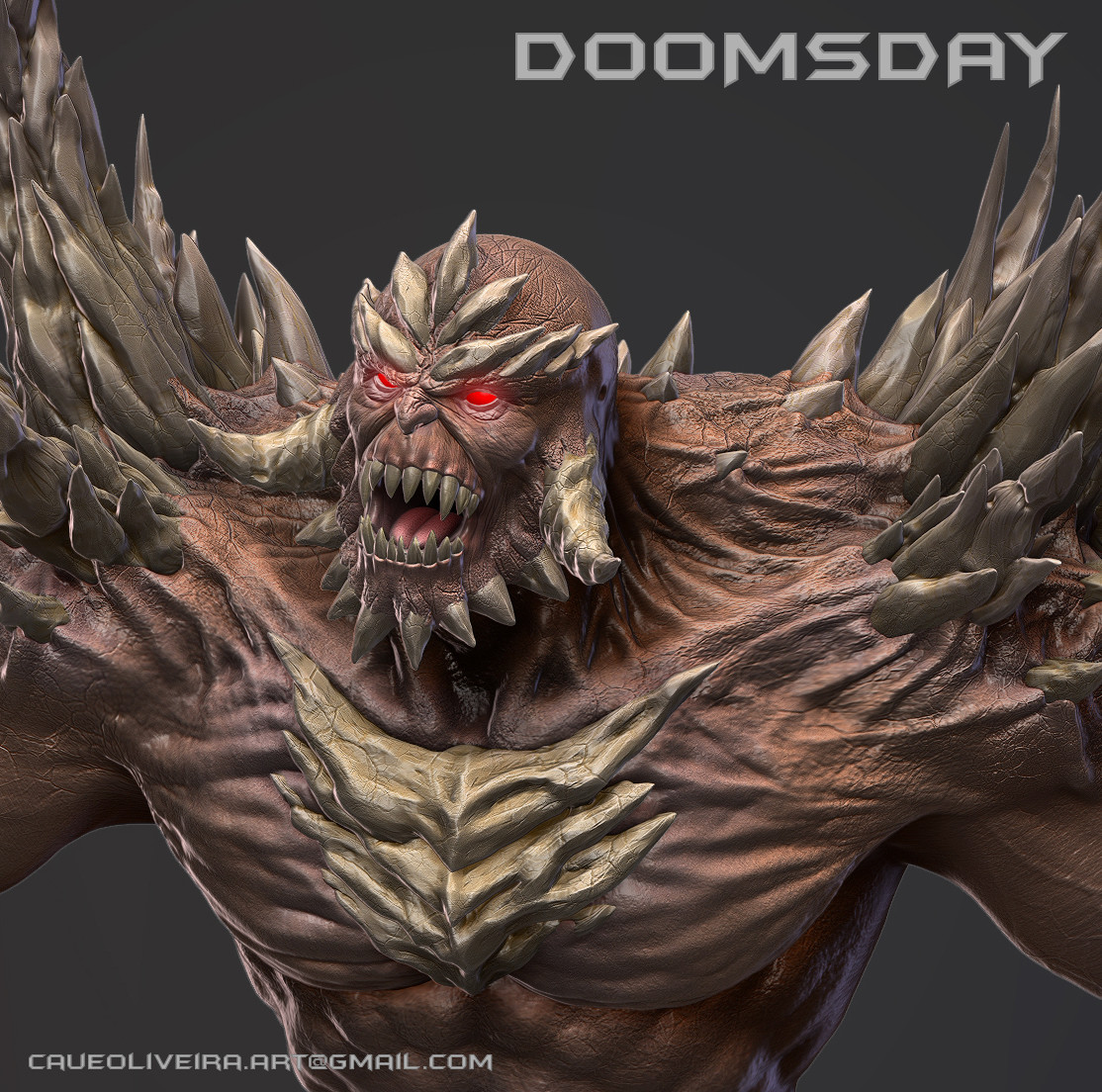 Artstation Doomsday Dc Comics Caue Oliveira