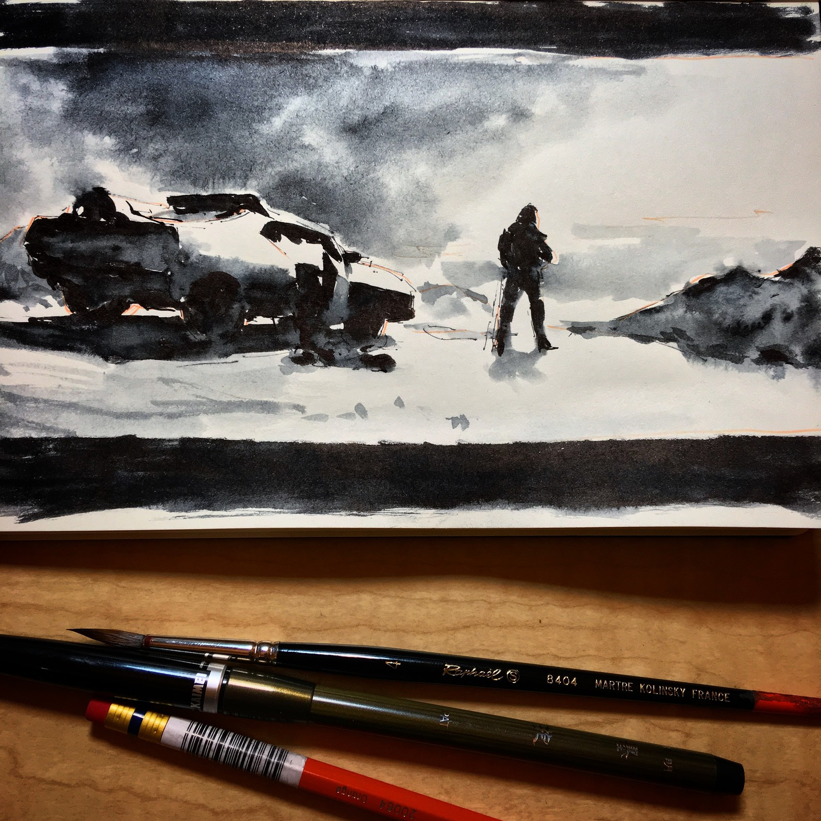 INKTOBER - MAD MAX: BLACK & CHROME studies