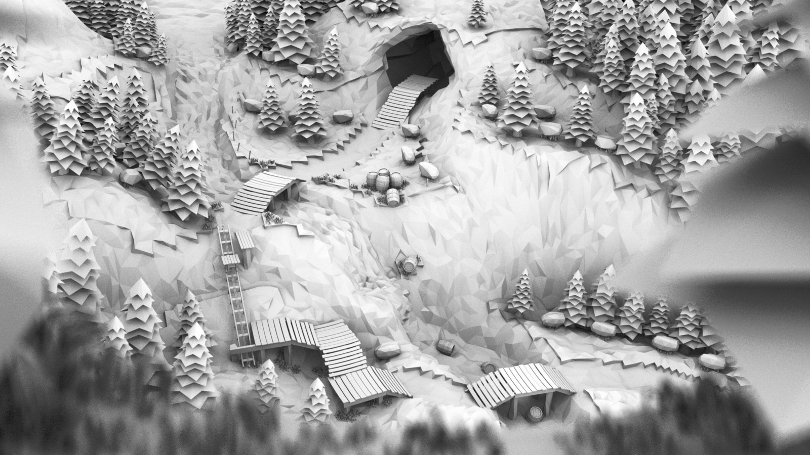 Ambient Occlusion mixed with a bit of a Shadow Pass