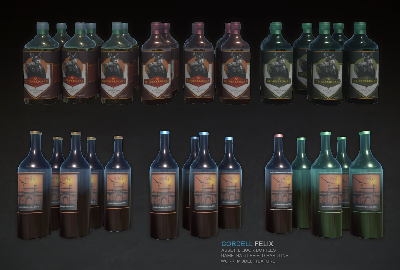 Cordell felix liquorbottles bfh
