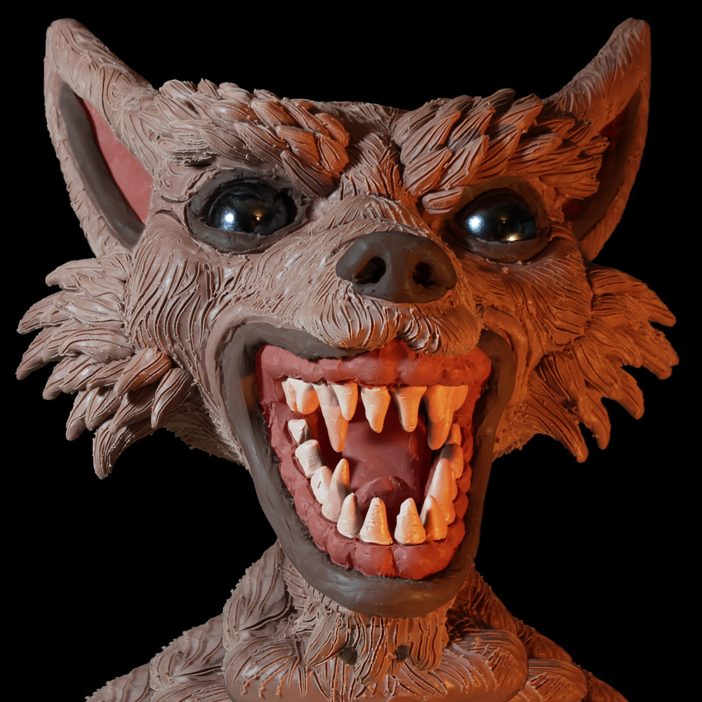 Rob mcdaniel 3dclay wolf front