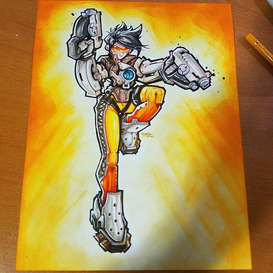 Rob duenas commision overwatch tracer 01 by robduenas da9be56