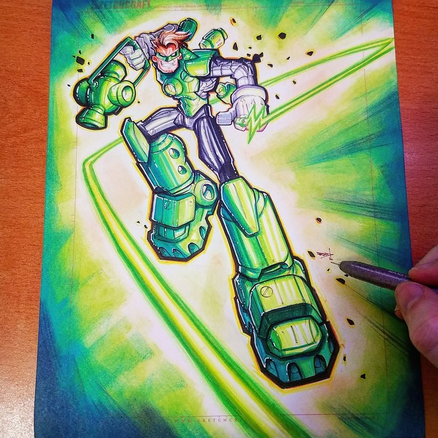 Step 05: Final Colors! Copic Markers, color pencil, and distress ink.