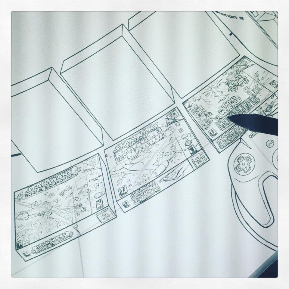 Step 06: Digidrawing WIP.