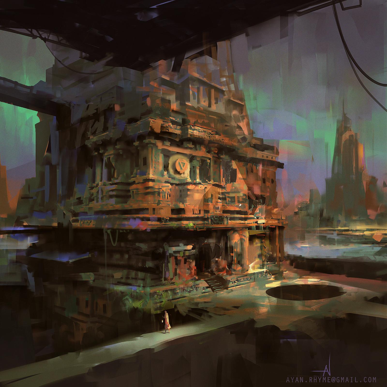 Ayan nag temple ruins 2 by ayan nag lr