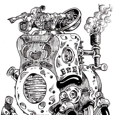 Steam-Powered Walker, Inktober 2016, 11