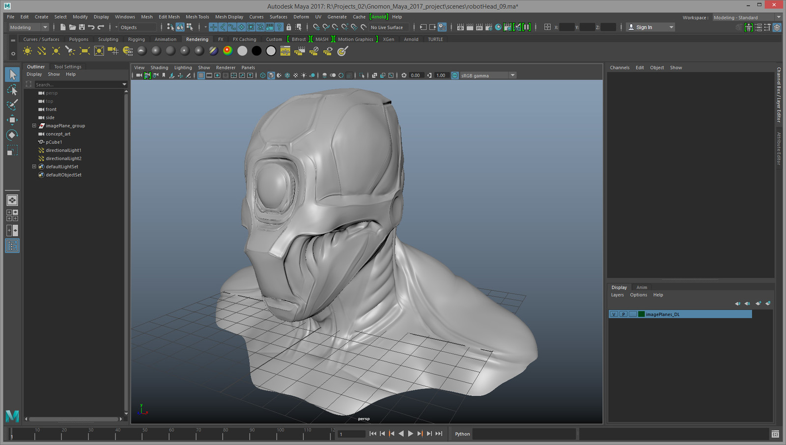 Early sculpt in Maya 2017 (yes the sculpting tools are getting better!)