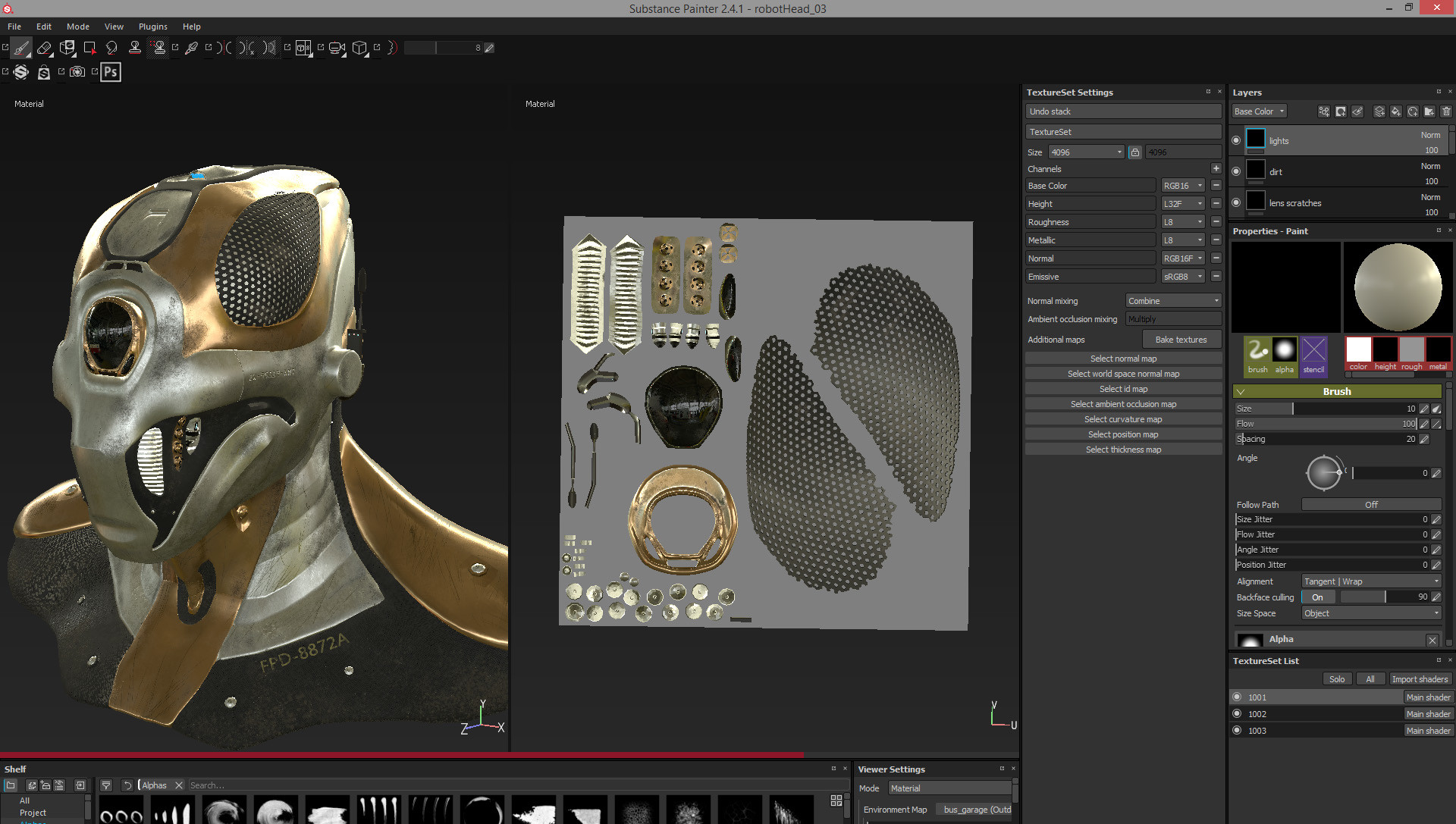 Texturing in Substance Painter