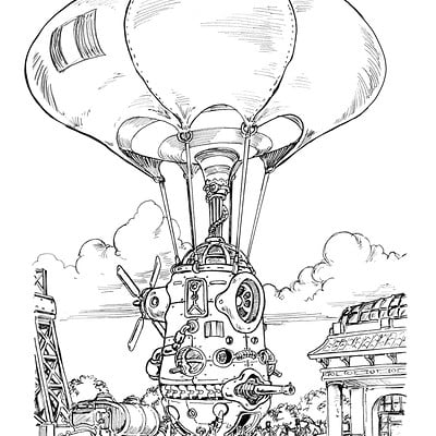 French Aerostatic Corps Balloon, Inktober 2016 ,16